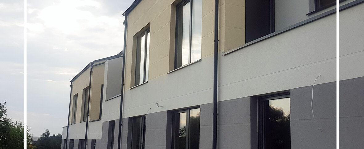 Zakończenie IV etapu budowy domów bliźniaczych Osada Borkowo