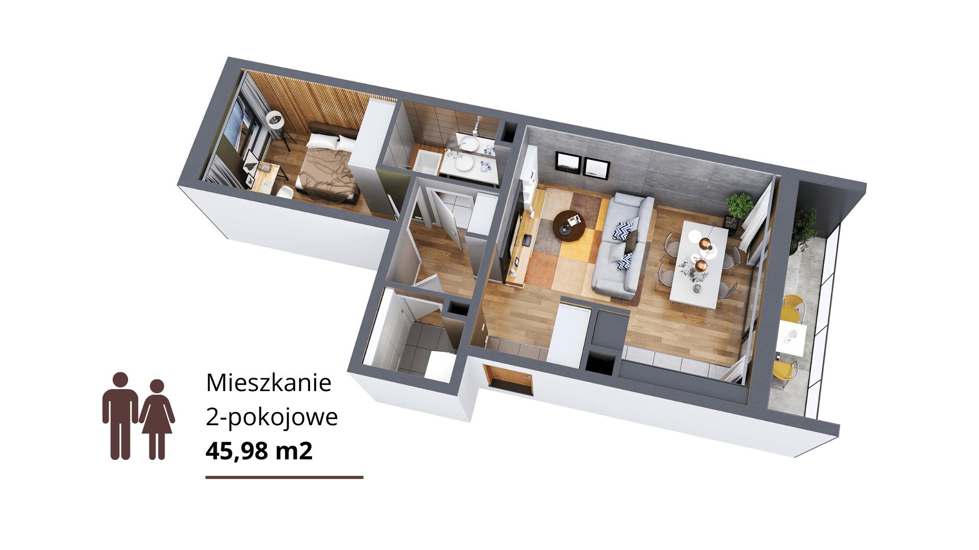 1. Mieszkanie 2-pokojowe