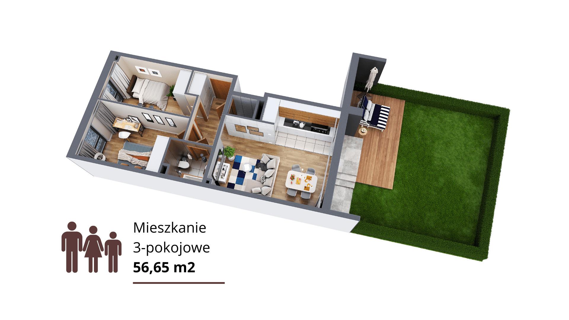 3. Mieszkanie 3-pokojowe
