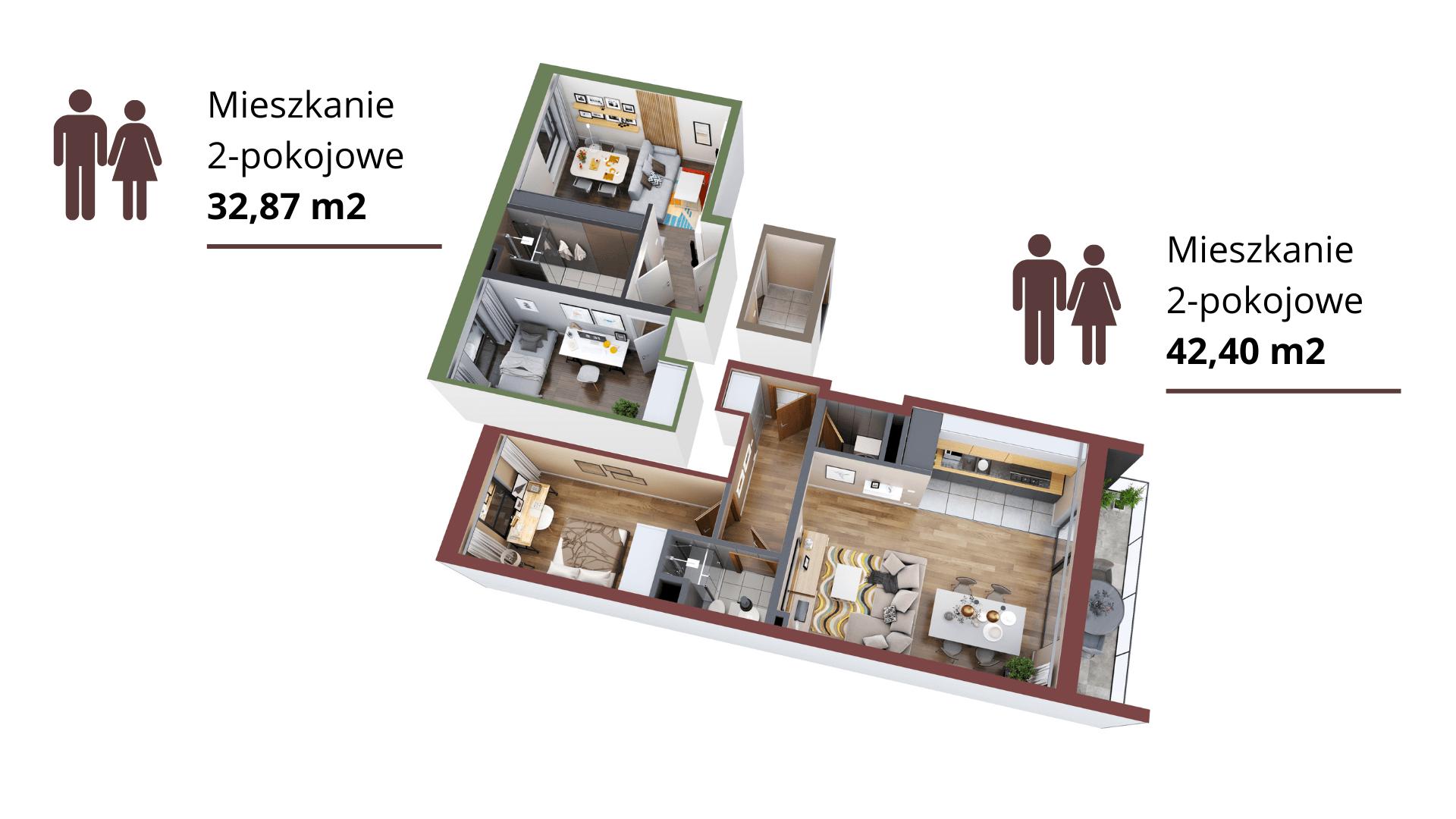 Mieszkanie opcja 2 + 2