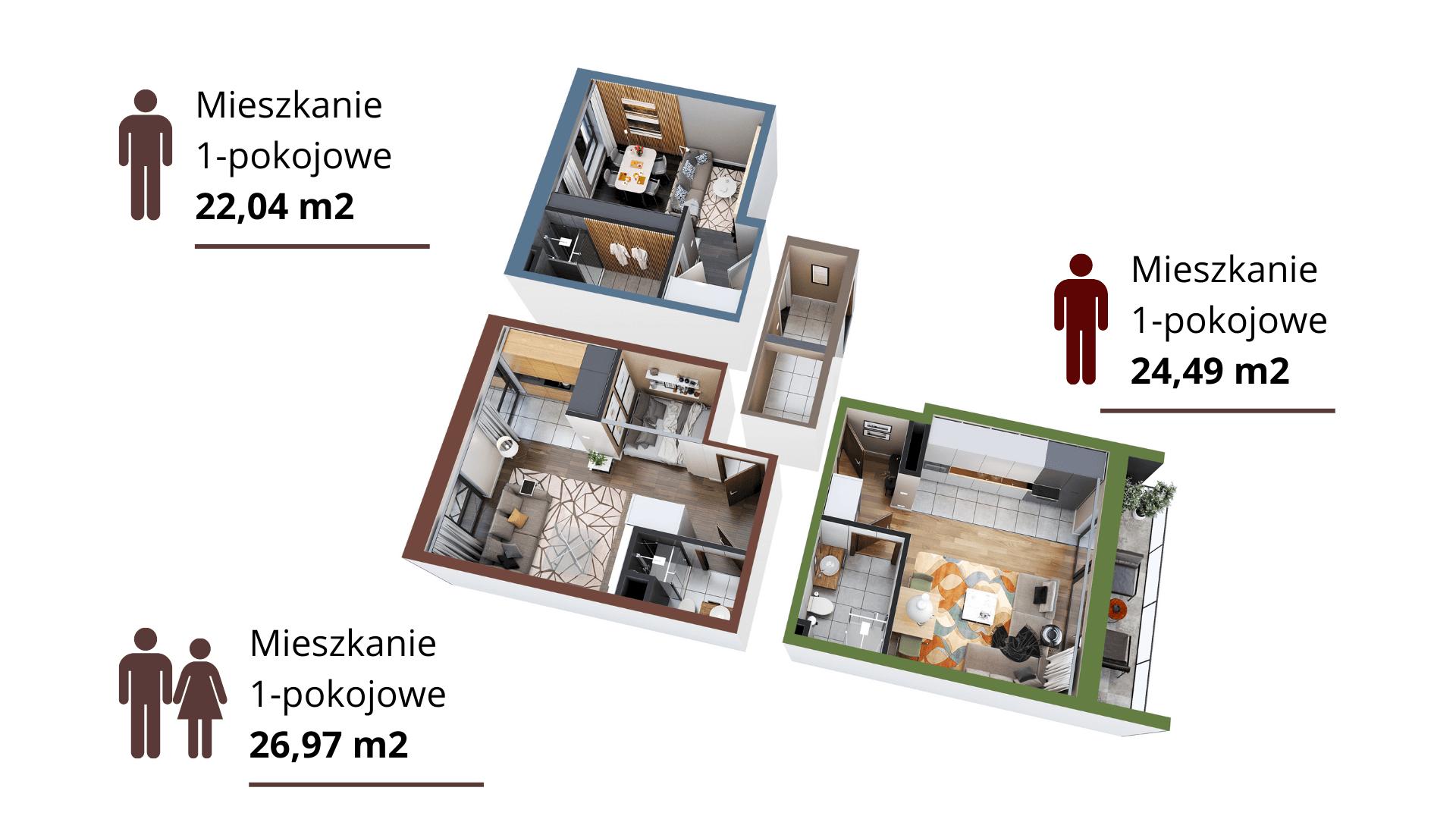 Mieszkanie opcja 3 x 1